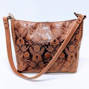 The Sak Floral Embossed Leather Bag